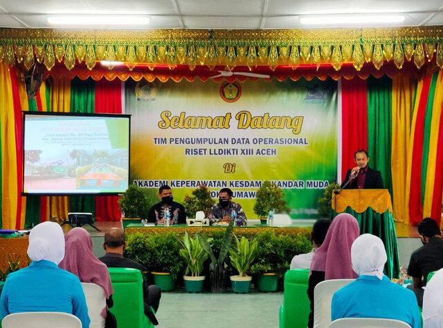 Dir Akper Kesdam IM Lhokseumawe, Terima Kunjungan Tim LLDIKTI XIII Aceh